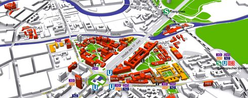 Map of Campus TU Berlin